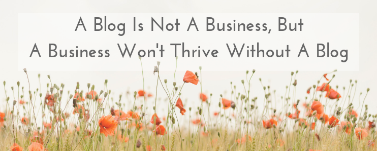 BLOG IS NOT A BUSINESS