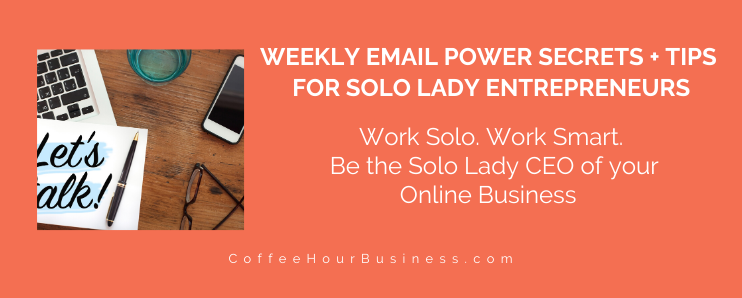 Solo Lady CEO Email Club 1